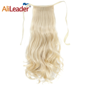 AliLeader Synthetic Kinky Curly Ponytail Hair Bundle For Hair Extension