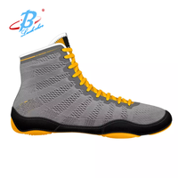 hot sale mens wrestling shoes breathable mesh gym shoes high cut training shoes