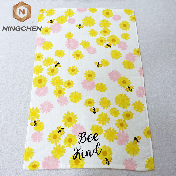 hot sale towels 100 cotton printed tea towel EAswet kitchen textile wholesale bulk yarn dyed tea towel 100% cotton