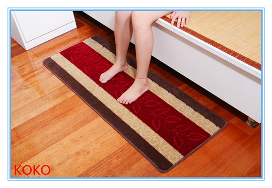 100% pp anti cold and non slip bedside rugs