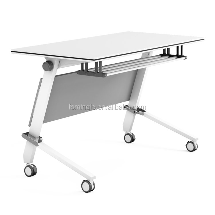 Hpl Laminated Training Table For Training Conference Room With Table - Foldable training table