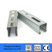Solar frame struct 41x41x2.5 galvanized c channel