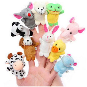 Toys lovely soft finger puppets toys parent-child interaction cartoon animal plush stuffed toys