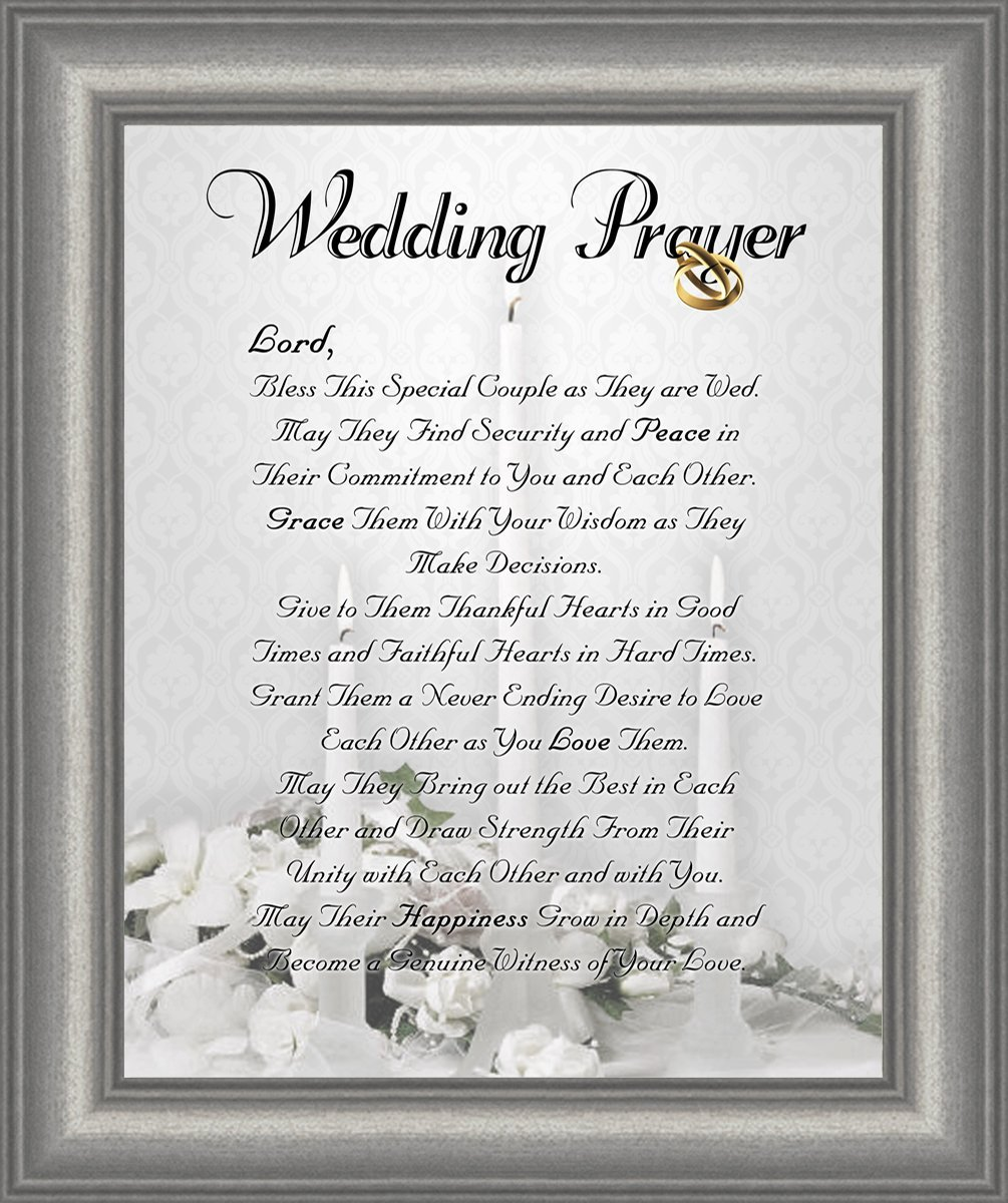 Buy Wedding Marriage Anniversary Prayer Satin Silver Frame
