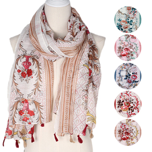 Thin Fabric Scarves Shawls Cheap Cotton Checked Viscose Scarves