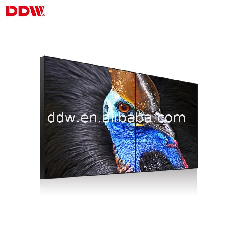 Manufacturer big screen super slim wall mount lcd advertising seamless video 4k led tv display