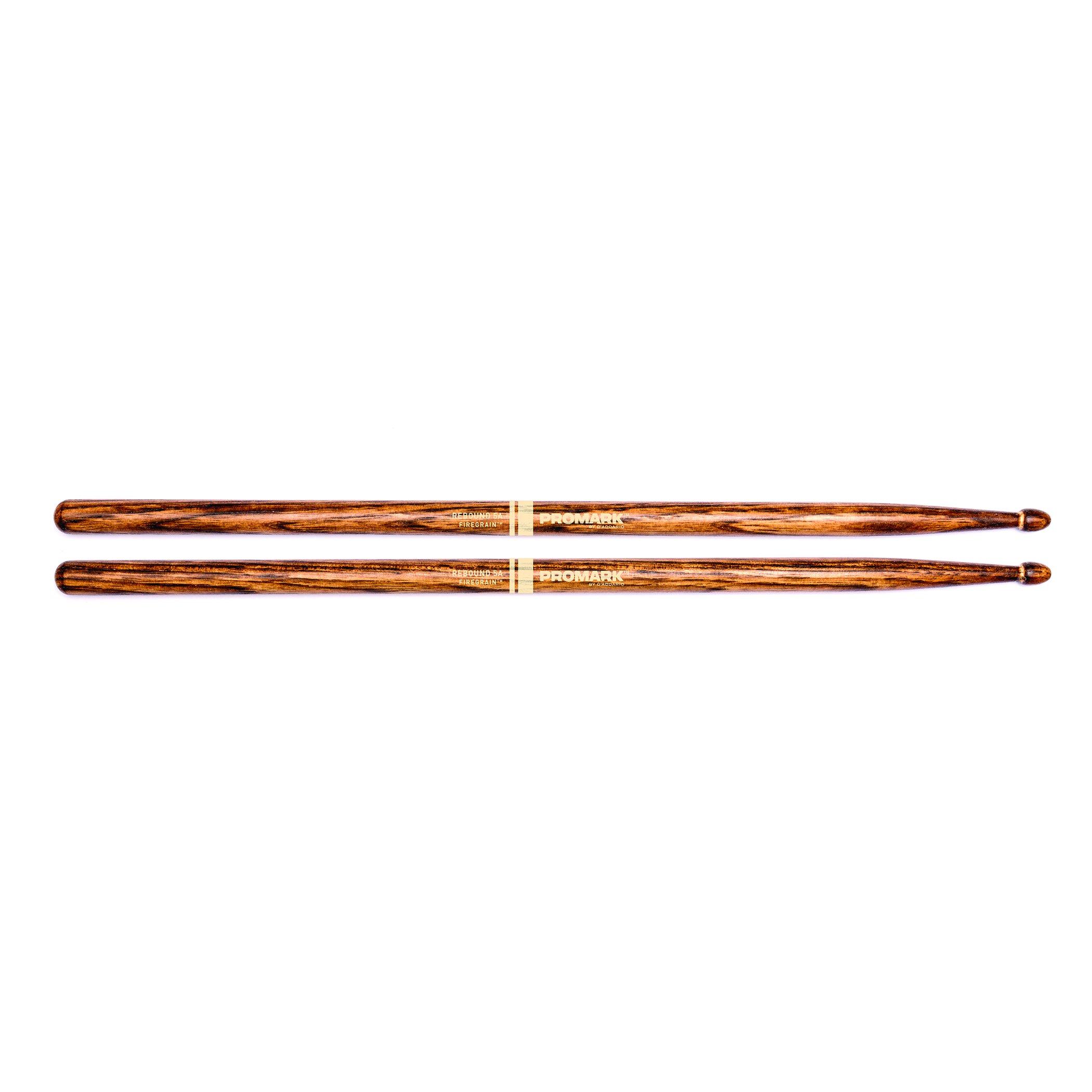 Promark FireGrain Rebound 5A Drumsticks, Acorn Tip