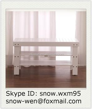 Schoenenrek Hout Wit.Nieuwe Model Duurzaam Wit Houten Schoen Plank Bench Schoenenrek