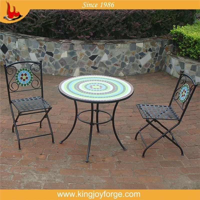 good reputation over the world mosaic tile bistro table set