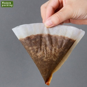 Cone-shaped natural unbleached coffee bag filter paper
