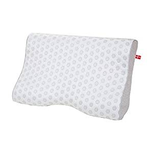 Cool Pointe Suscipio Cooling Fabric Curved Pressure-Tested Gel Memory Foam Core Pillow with Ventilation Holes