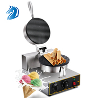Stainless Steel Non-Stick Cast Electric Waffle Cone Baker Ice Cream Waffle Cone Maker