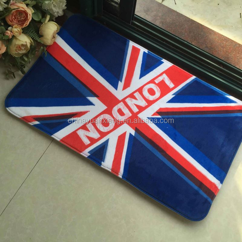 UK Flag Union Jack Memory Foam Doormats Picture