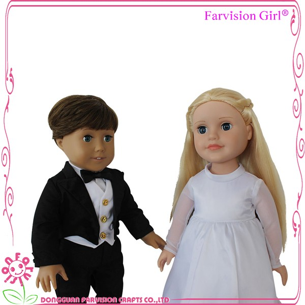 2017 New design funny wedding gift loving baby couple dolls