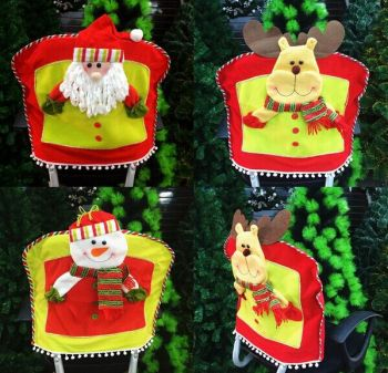chinese christmas ornaments felt christmas santa chair cover for decorations