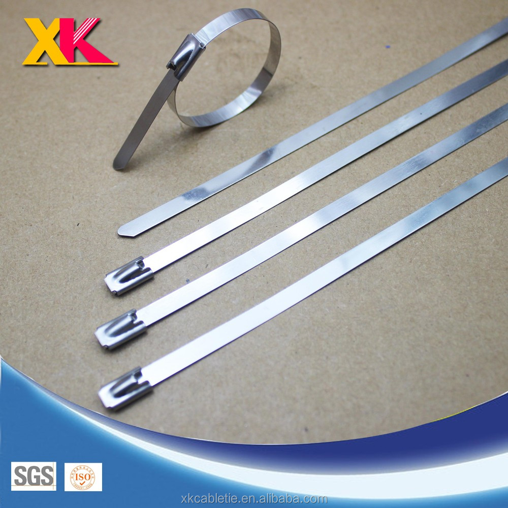 high cable Self Locking PVC Covered 316 Stainless Steel Cable Ties
