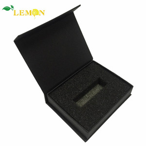 China Factory Custom Folding Cardboard Black Jewelry Gift Box Packaging With Magnetic