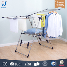 Multi-purpose balcony folding cloth drying rack stand