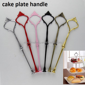3 Tier Cake Cupcake Plate Carrier Stand Handle Hardware Fitting Holder for fruit tray cake plate Home Kitchen Dining cake Tool