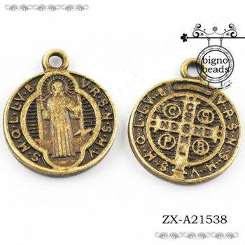 Catholic saints pendants light collections light ideas large saint benedict antique bronze exorcism catholic medal aloadofball Choice Image