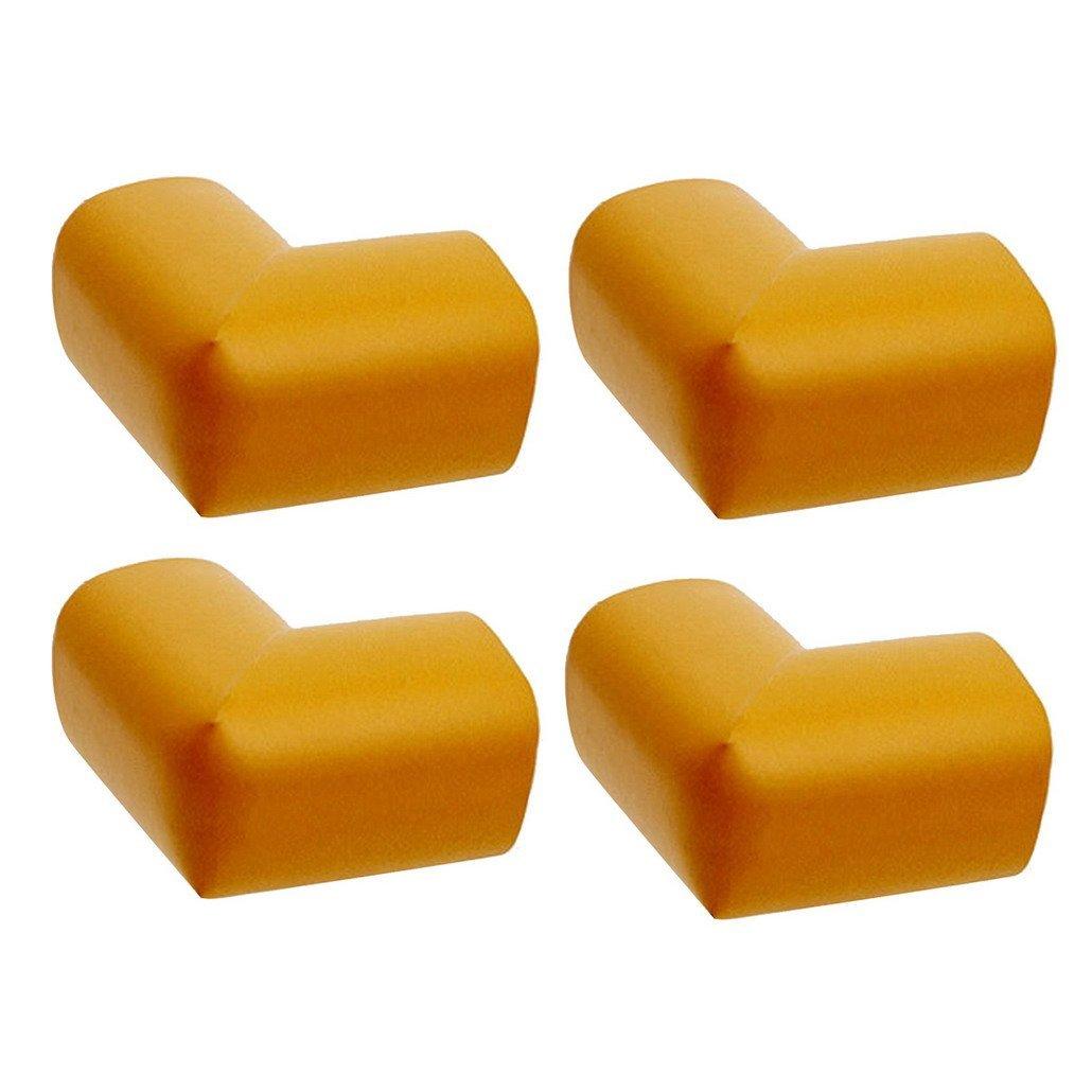 DEHANG L Shape Mini Baby Corner Child Edge Corner Protection Sponge Anti-Collision Angle 4 Packs - Khaki
