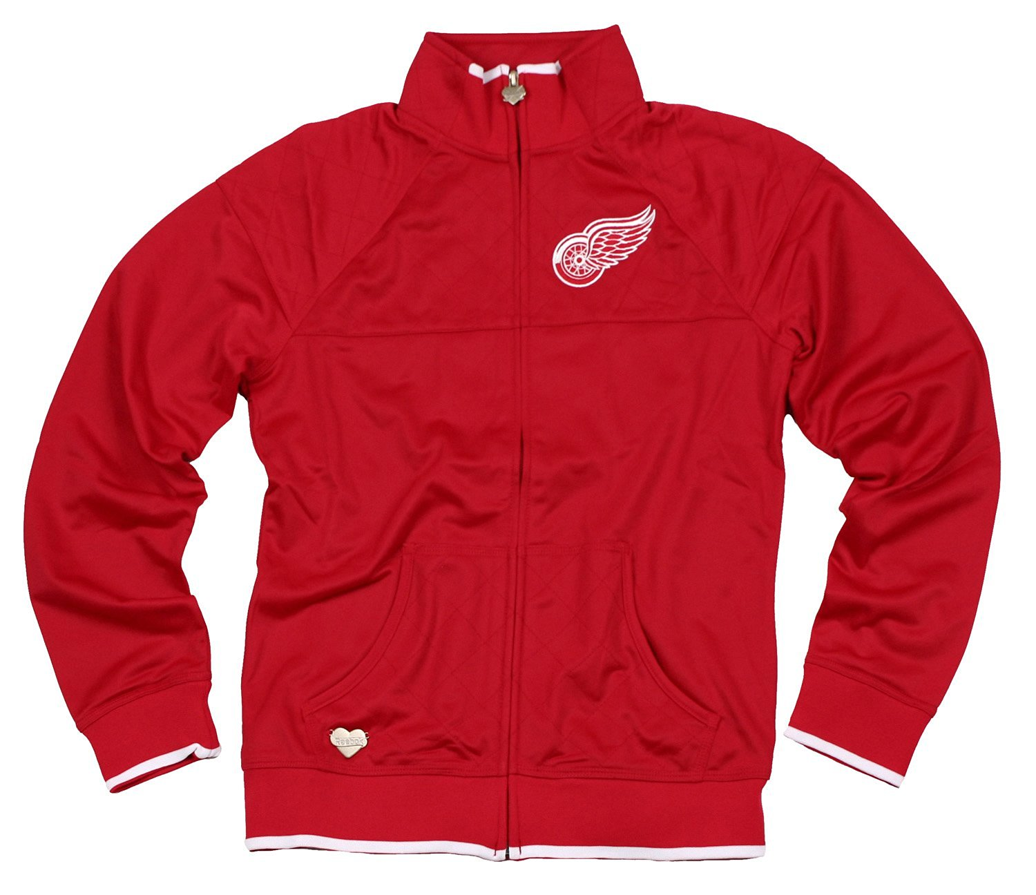 Detroit Red Wings NHL Womens Quilted Track Jacket, Red