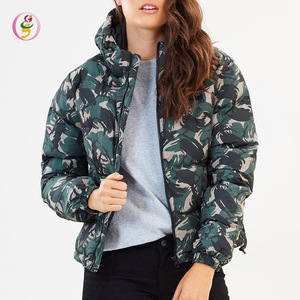 winter camouflage Women's Coats With Hood Fashion Ladies Padded Puffer Jacket Parkas