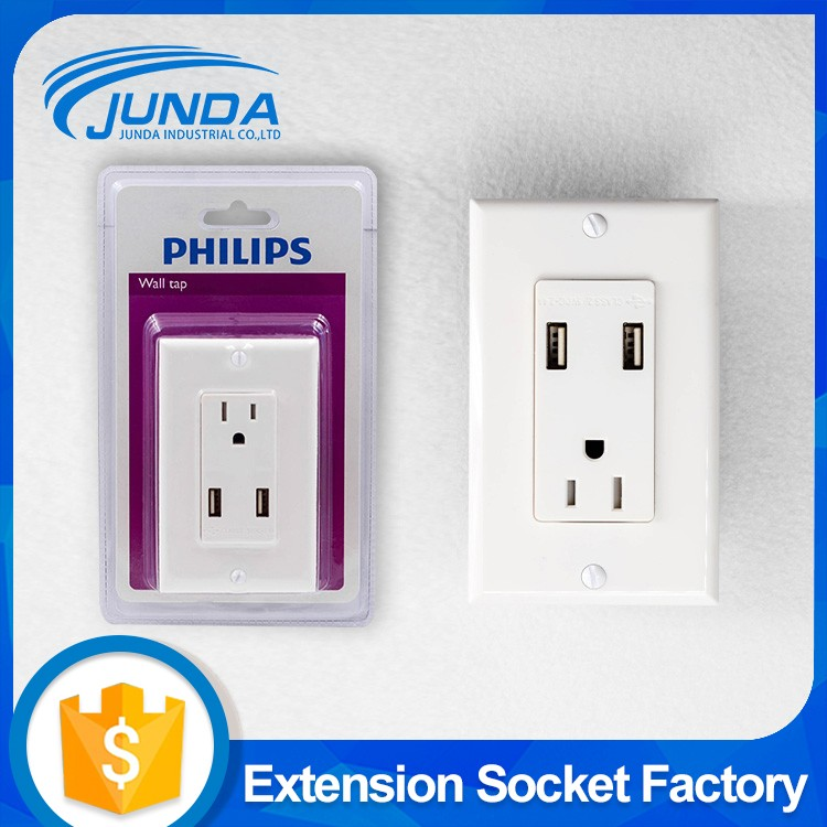 13a outlet multi function surge protector plate 3 pin wall power extension plug switch socket