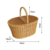 China supplier OEM durable customized fruit food tableware storage decorating picnic basket with handle