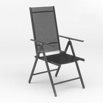 Folding 7 Pos Aluminum Morden Outdoor Mesh Garden Deck Chair