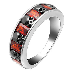 16d2ba35e815c8 Hainon Factory cheap skull rings men fine jewelry red zircon elegant jewelry  rings for women wholesale