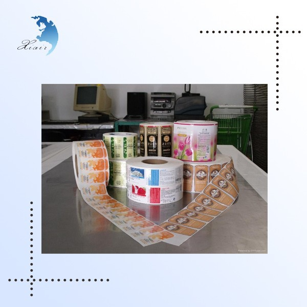 High quality custom cheap food promotion pvc roll label stickers