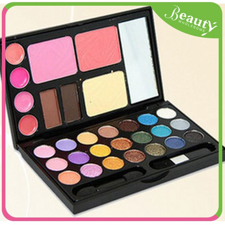 Single eyeshadow with mirror ,21 Color Eye Shadow lip gloss Makeup set ,H0T3q make up set