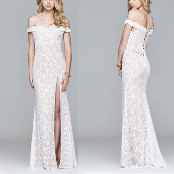 Off Shoulder Party Dress Open Sexy Bigs Boobs Wedding Dress Hot Sexi