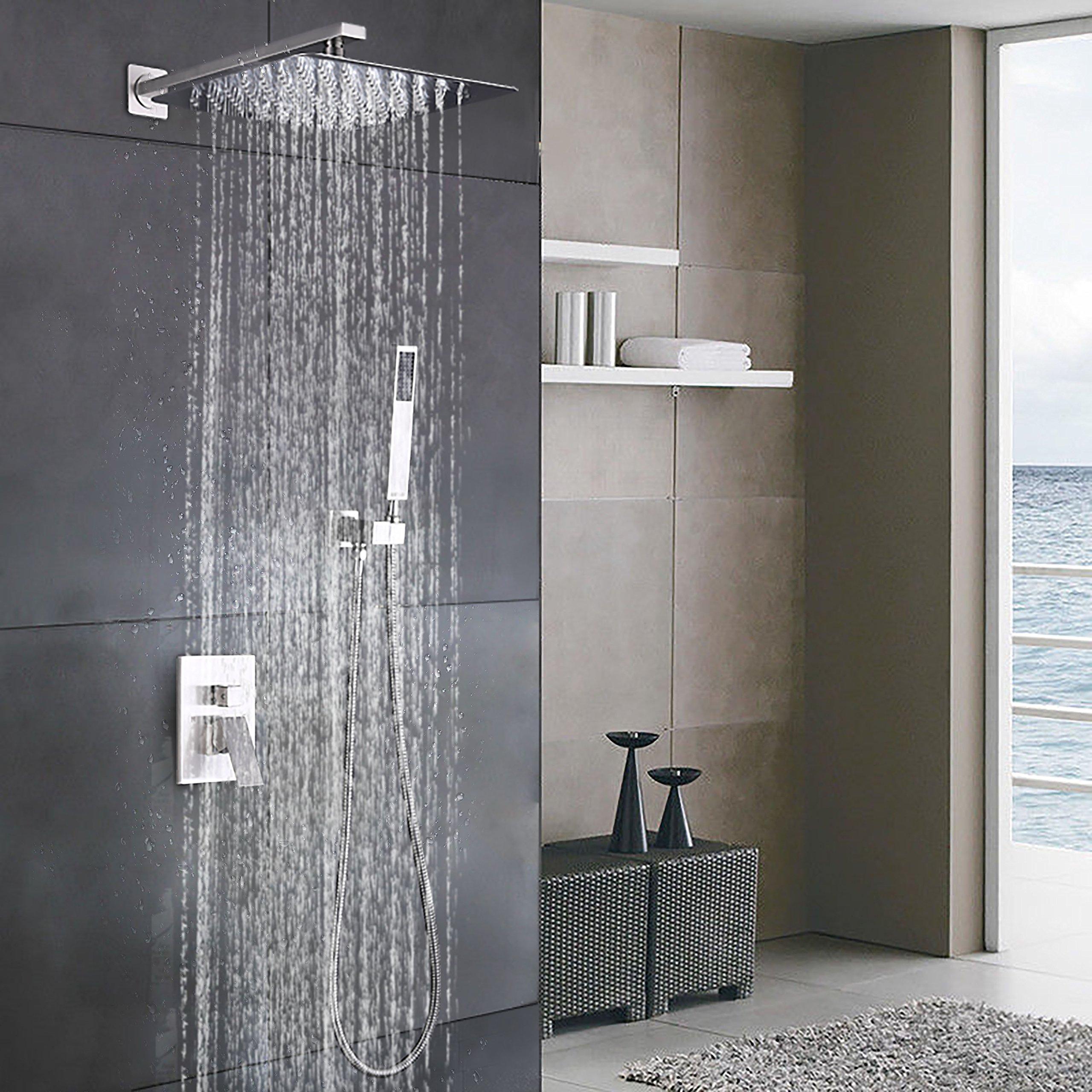 Buy Luxury Brushed Nickel Rain Shower Column Shower Panel