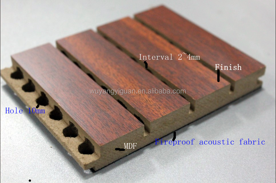 Micro Density Fiberboard ~ Micro perforated mdf wood texture acoustic eco panels