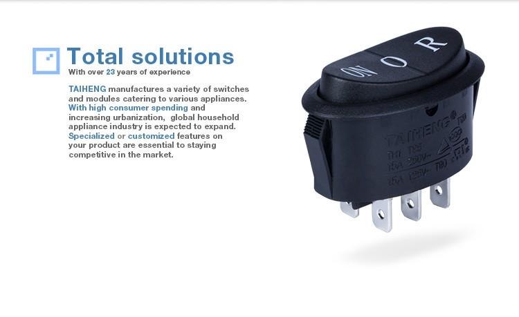 Nouveau Design lumineux 4-6pin t125 interrupteur à bascule 125v pour rectifieuse