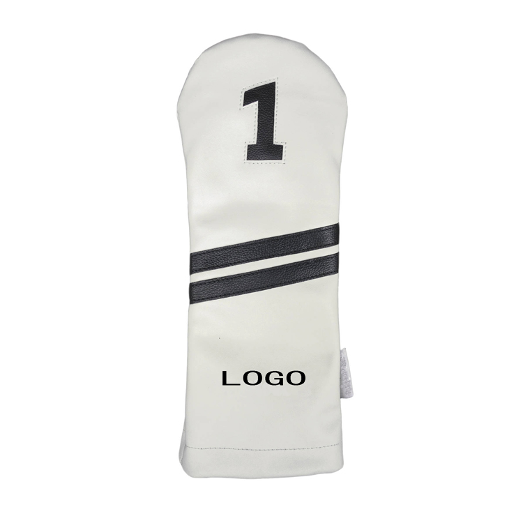 2018 Customized Logo PU Leather Driver Fairway Hybrid Golf Head Covers