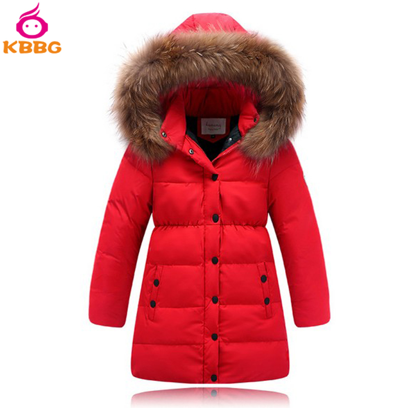 f9553147fc70 Get Quotations · Girls Winter Coat Long Duck Down Children Winter Outerwear  Big Girl Coats Hooded With Fur 2015