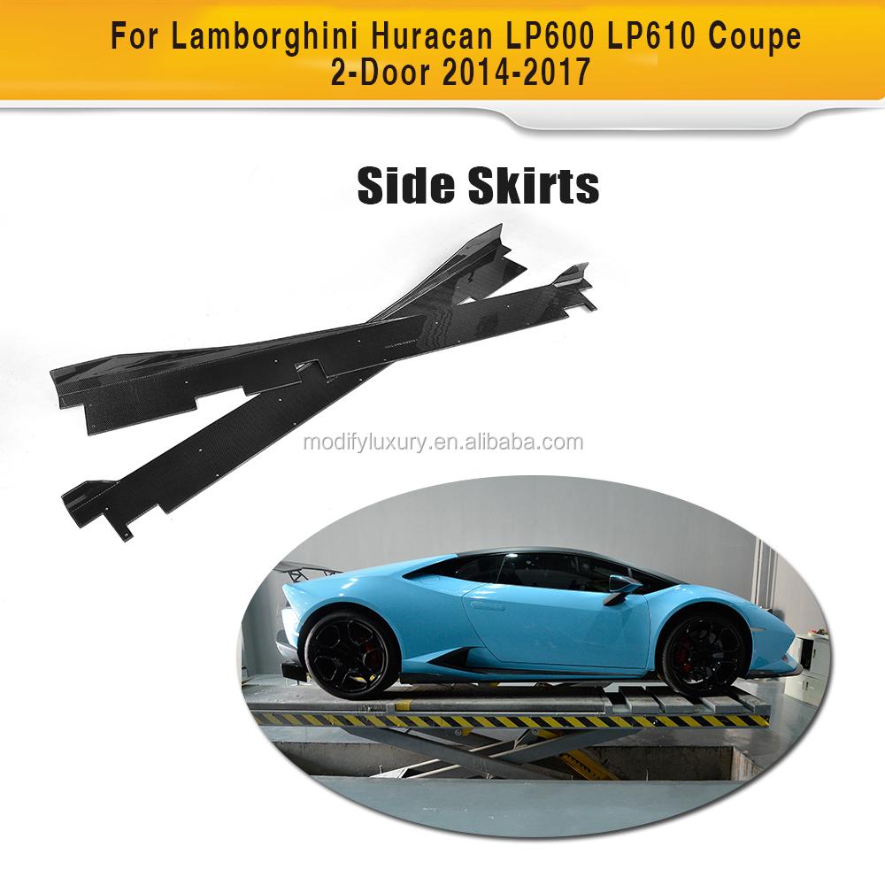 Car Styling Carbon Fiber Nerf Bars Running Boards Door Sill For Lamborghini Aventador Lp700-4 Nerf Bars & Running Boards