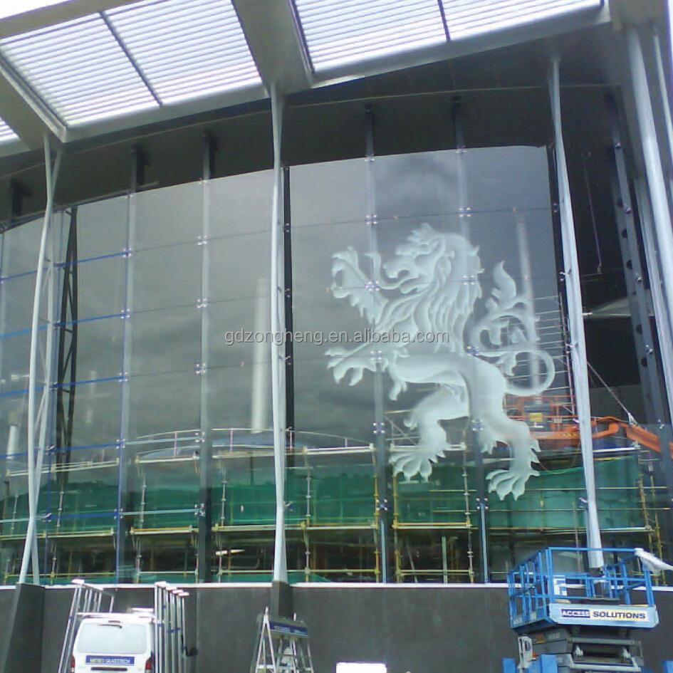 las paredes de cristal del edificio exterior mm vidrio ddigital impresin de vidrio