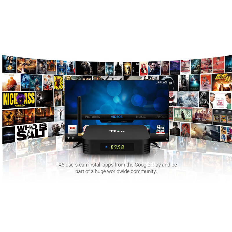 TX6 Smart Android 7 1 TV 4G 32G Allwinner H6 Quad core 2 4G + 5G dual Wifi  BT 4 1 4K HD H 265 Set Top Box