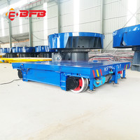 Large table conductor rail power beverge pallet transfer trolley car for sale