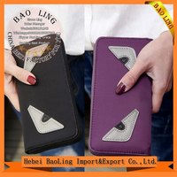 Fashion PU Long Wallet Men Women General Zipper Handbag Bag Small Monster Wallets Tide