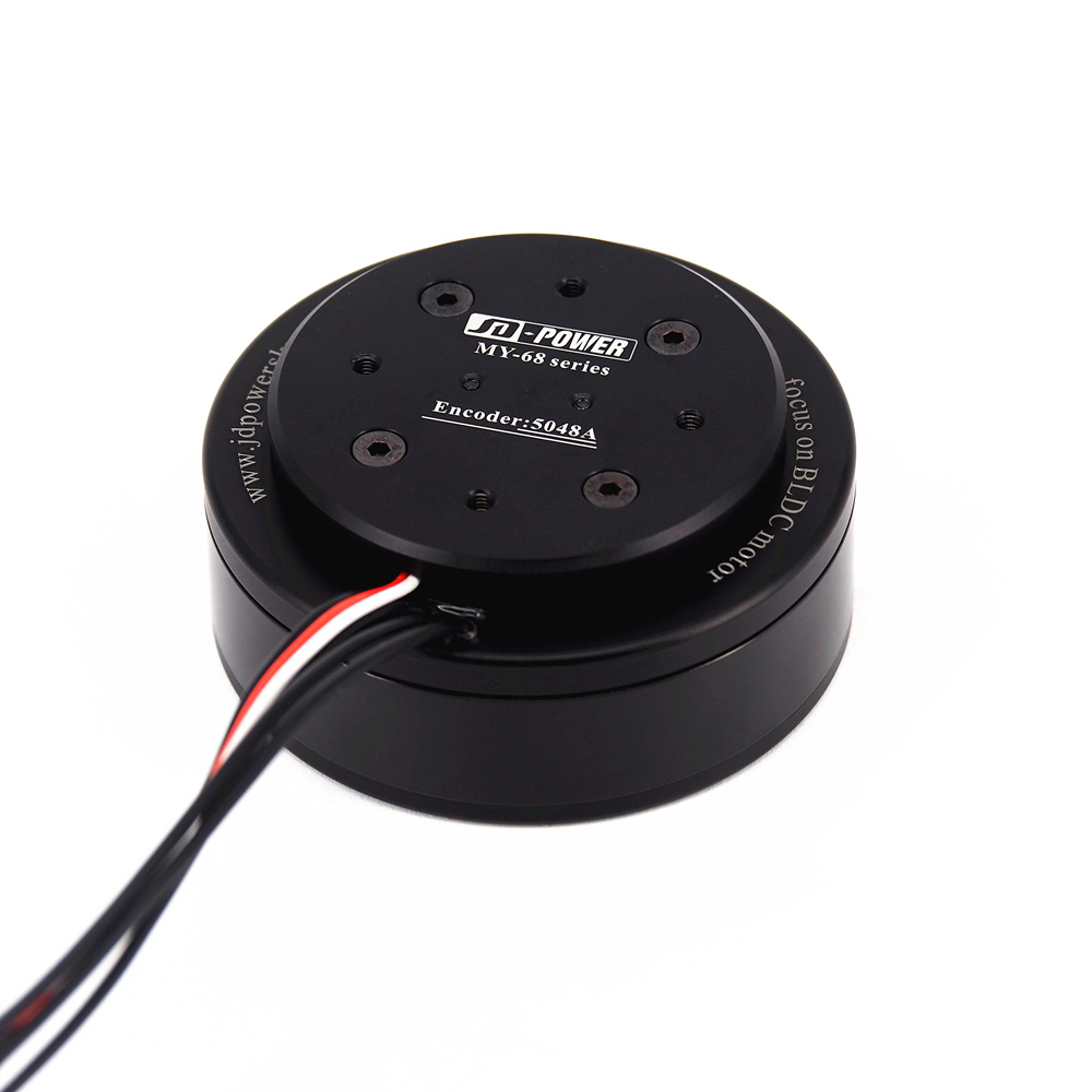 Hohe qualität JD-power MYH-6823F flach dc servo industrielle roboterarm outrunner gimbal brushless motor mit encoder