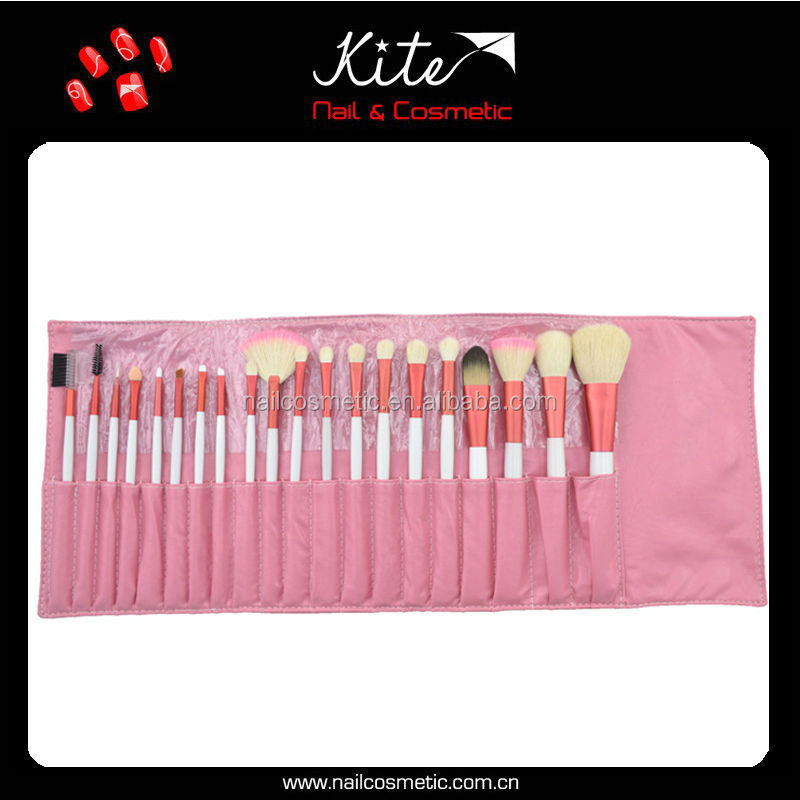 Top natural hair 20 pcs makeup brush set,eyelash extension brush