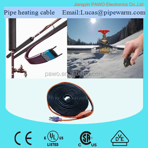 PAWO raychem heat tracing cable with UL / CSA certification for North American raychem heat tracing cable market