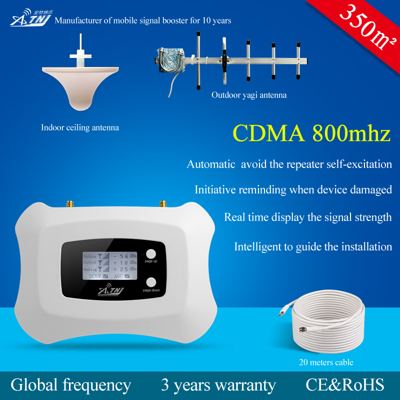 smart global frequency cdma 800mhz mobile signal booster for home use
