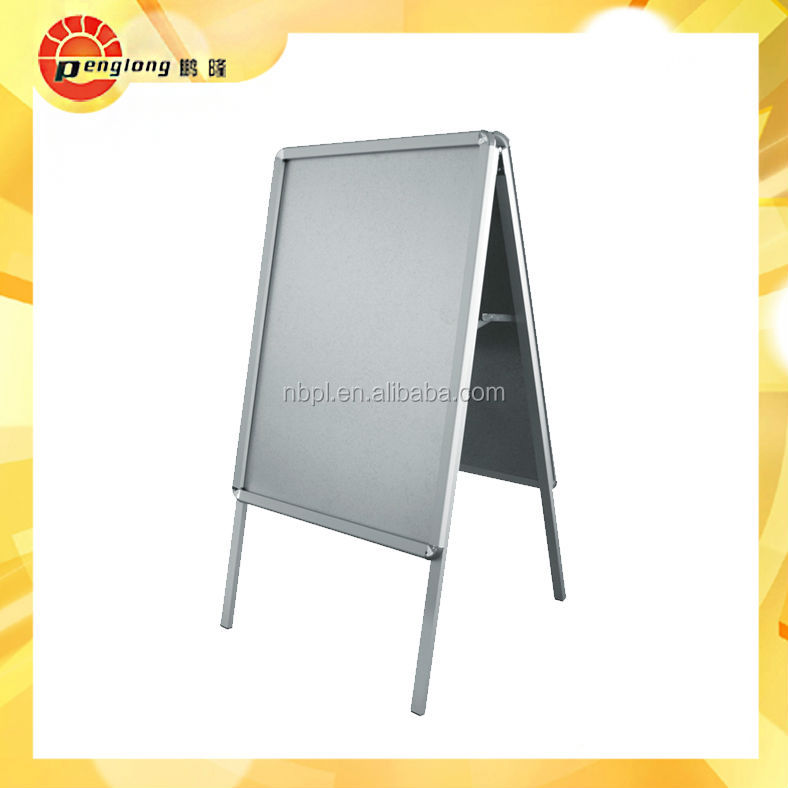 Aluminum Front Open Outdoor Sign Board Snap Frame Display Stand A ...