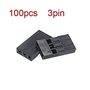 100pcs 3P Dupont Jumper Connector Female Pin Wire 2.54mm Pitch / : . 100pcs 3P Dupont Jumper Connector Female Pin Wire 2.54mm Pitch . . Quantity: 100pcs . . Connector: 3p . . Pitch: 2.54m